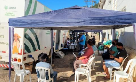 Caminhão da Saúde do Senar MG é sucesso em Carangola e Manhumirim