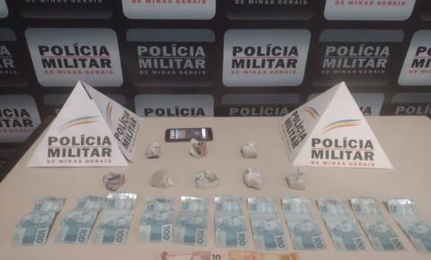 PM de Carangola prende traficante de drogas que chegava na cidade trazendo entorpecentes de Muriaé