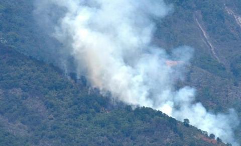 Incêndio atinge área de vegetação do Parque Nacional do Caparaó