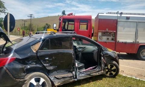 Acidente em Guaçuí entre dois veículos deixa feridos