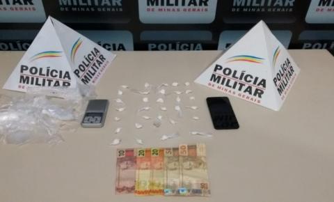 PM de Carangola prende traficante de drogas