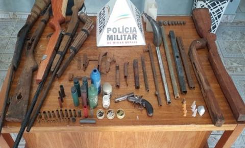 Operação realizada em Divino, prende cinco pessoas e apreende 10 armas de fogo