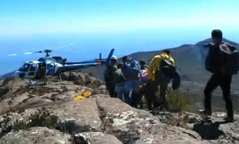 Turista é resgatado com hipotermia no Pico da Bandeira