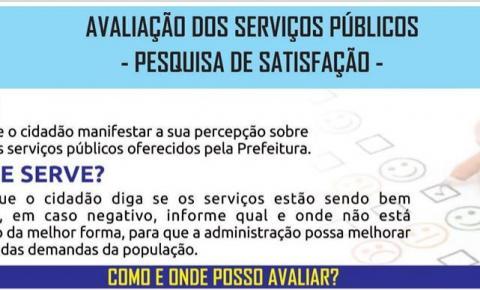 Cidadãos de Dores do Rio Preto agora podem avaliar os Serviços Públicos da Prefeitura